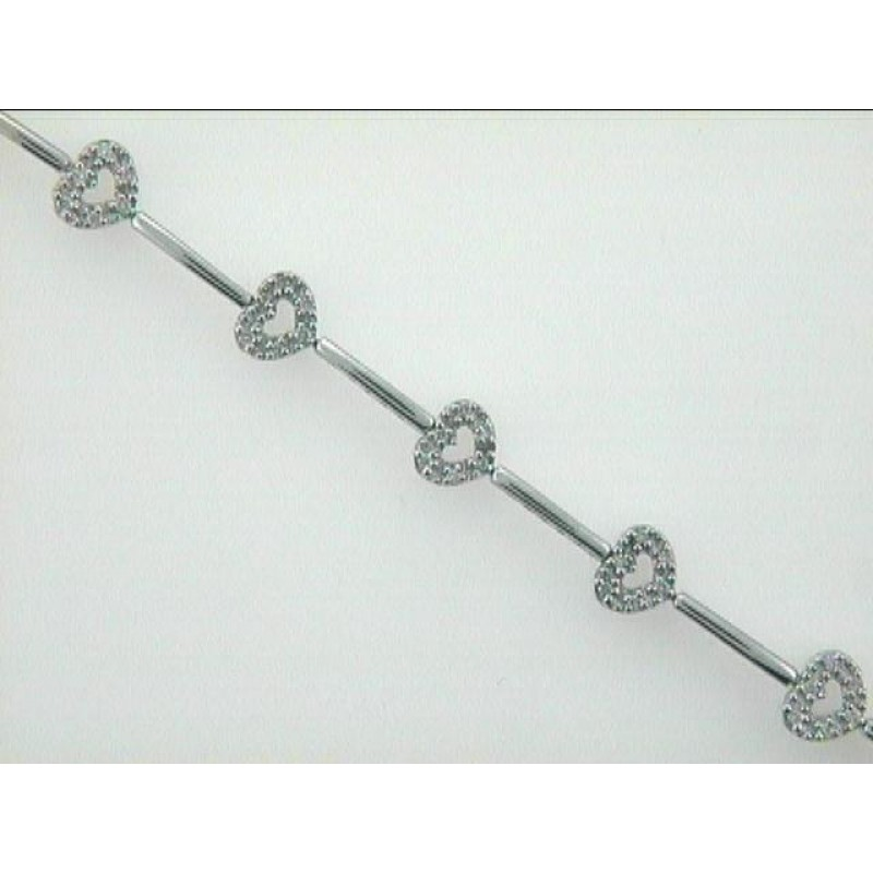 "BRACELET 14K w/0.30CTS DIAMOND ""CLOSE-OUT"""