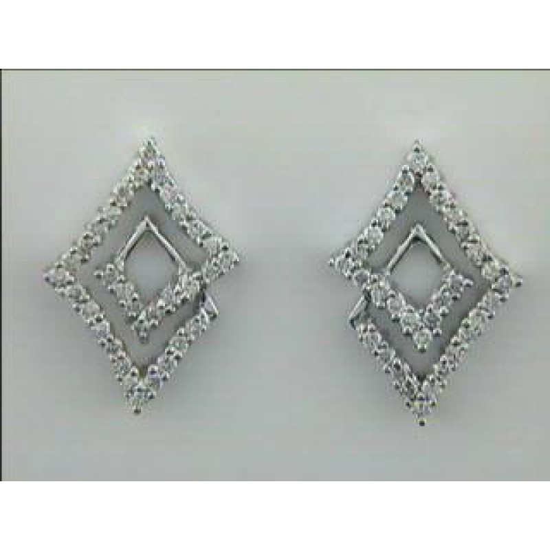 EARRING 14K WG w/0.45CTS DIAMONDS CLOSE-OUT