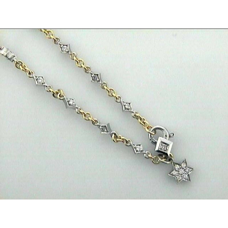 LADIES NECK. 18K w/1.26CTS DIAM'S ESTATE  DAYTIME