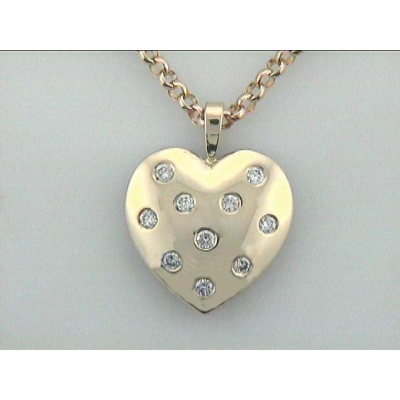 PENDANT 14K w/0.50CTS DIAMOND HEART