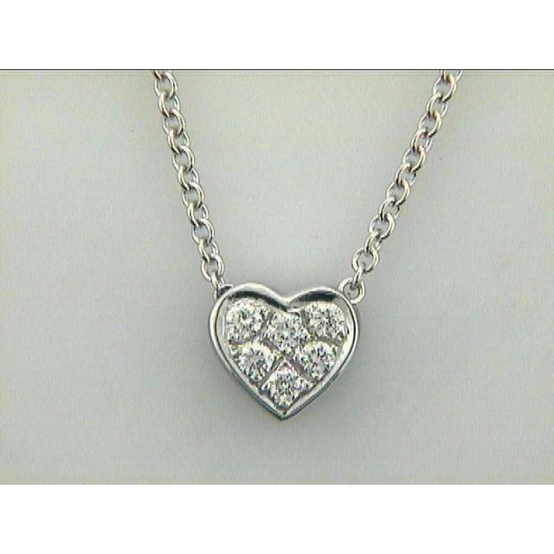 NECKLACE 14K w/0.19CTS DIAMONDS HEART DAYTIME