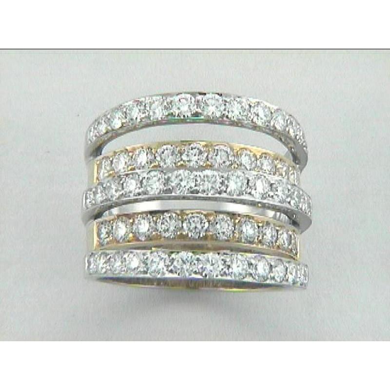 LADIES RING 18K w/2.85CTS  DIAMONDS