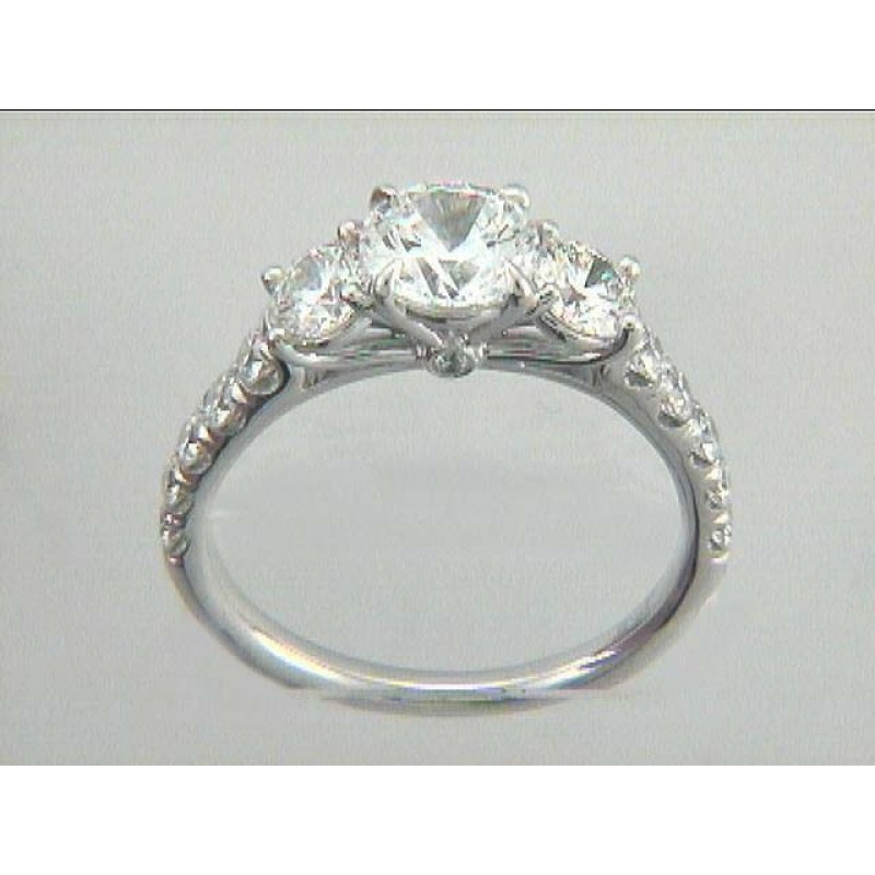 ENG. RING  18K w/0.98CTS DIAMONDS(center extra)