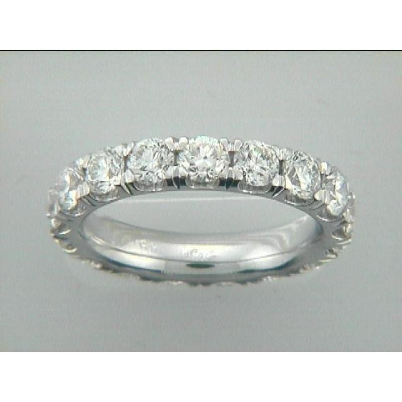 WEDDING 18K w/3.63CTS DIAMOND ETERNITY