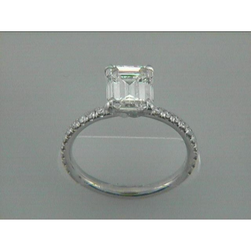 ENG. RING 18K WG w/0.22CT DIAMONDS(center extra)