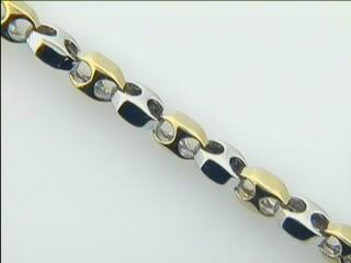 "LADIES BRACELET 14K GOLD 10.9GM ""CLOSE-OUT"""