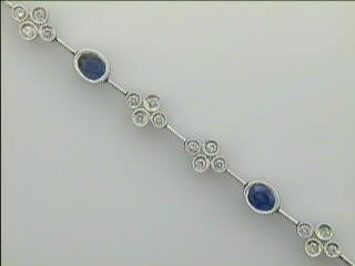 BR 18K w/0.72CTS DIAM+ SAPPHIRES (CLOSE-OUT)
