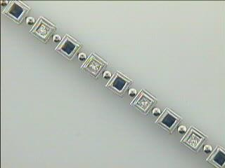 BR 18K w/0.86CTS DIAM+ SAPPHIRES (CLOSE-OUT)