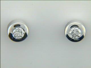 EARRING 14K WG  w/0.16CTS DIAMONDS