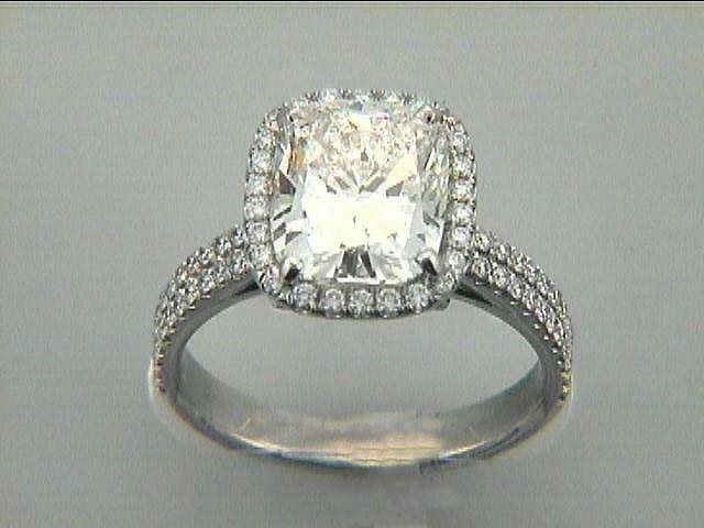 RING PLAT w/0.65CT DIAMONDS (center not included)