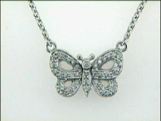 "NECKLACE 14K w/0.27CTS DIAMONDS ""CLOSE-OUT"""