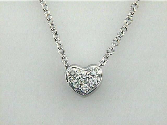 NECKLACE 14K w/0.17CTS DIAMONDS HEART