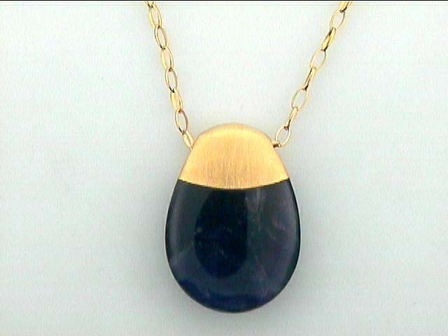 """NECKLACE SILVER w/AMETHYST 16"""" GOLD PLATE DAYTIME"""