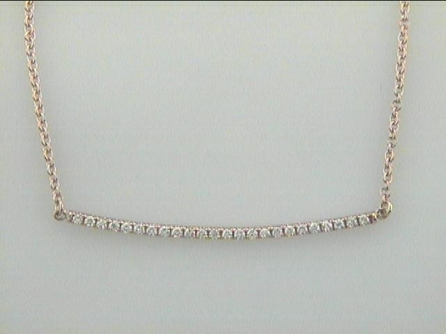 """NECKLACE 14K PINK GOLD w/0.30CT DIAMOND """"SPECIAL ORDER"""""""
