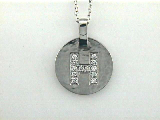 "PENDANT 14K w/ 0.31CT DIAMONDS ""H"""