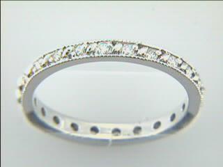 WEDDING  18K w/0.22CTS DIAMONDS ETERNITY