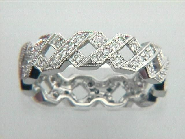 RING PLATINUM w/0.35CTS DIAMONDS ETERNITY
