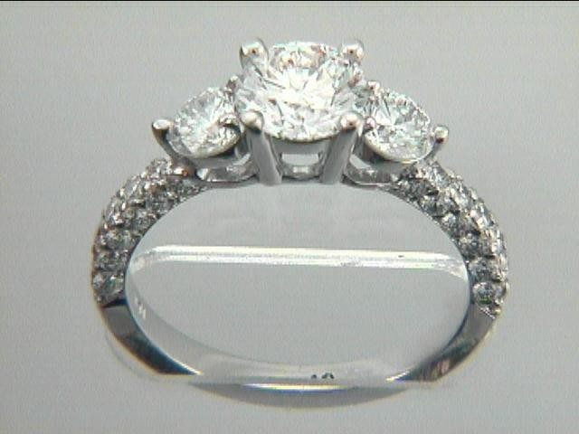 RING 18K w/1.17 CT DIAMONDS(center not included)