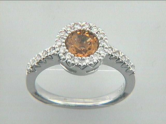 RING  14K w/0.20CTS DIAM+CITRIN CLOSE-OUT