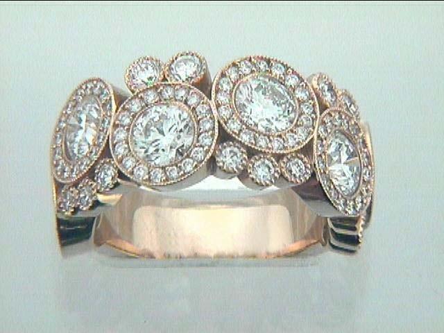 RING 18K PINK w/3.70CTS  DIAMONDS