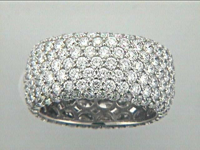 "WEDDING 18K w/6.55CT ROUND DIAMOND ETERNITY ""SPECIAL ORDER"""