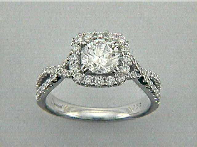 RING 18K w/0.53CT DIAMONDS (center extra)