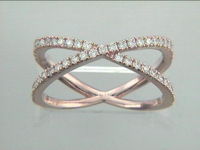 LADIES RING  14K PINK GOLD w/0.47CT  DIAMONDS