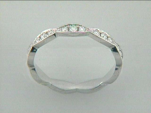 RING 18K w/0.28CT DIAMOND ETERNITY BAND