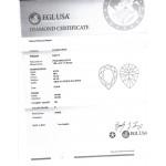 0.84 CT PEAR SHAPE DIAMOND E/SI2 EGL#US908271001D