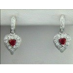 EARRING 14K w/0.66CTS DIAM'S+SAPH CLOSE-OUT