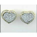 """EARRING 18K w/3.12CTS DIAMONDS """"CLOSE-OUT"""""""
