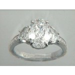 RING PLAT. w/0.79CT DIAMONDS (center not included)