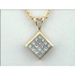 LADIES PENDENT 18K w/0.66CTS DIAMONDS