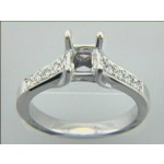ENGAGEMENT  18K w/0.26CTS DIAMONDS MICRO PAVE