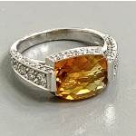 RING 18K w/0.66CT DIAMOND+CITRIN CLOSE-OUT