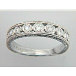"PLATINUM w/0.28CTS DIAM'S ""CLOSE-OUT"" SIZE 6"