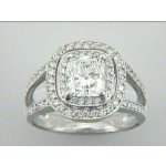 RING 18K w/0.43CT DIAMONDS (center not included)