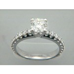 RING 18k w/0.90 CT DIAMONDS (center not included)