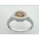 RING  14K w/0.25CTS DIAM+CITRIN CLOSE-OUT