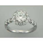RING 18K w/1.03CT DIAMONDS (center not included)