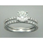 RING 18K w/0.81CT DIAMONDS (center not included)