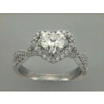ENG. RING 18K w/0.42CT DIAMONDS (center extra)