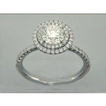 RING 18K w/0.46CT DIAMONDS(center not included)
