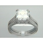RING PLAT.  w/0.85CT DIAMONDS (center not included
