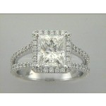 RING 18K WG w/0.92CT DIAMONDS (center not included
