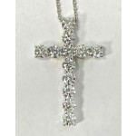 PENDANT 14K WG w/2.42CT DIAMONDS
