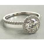 """RING 18K WG w/1.09CT CENTER + 0.51CT SIDE  """"ALL LAB DIAMONDS"""" """"SPECIAL ORDER"""""""