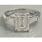 "DIAMOND RING 18K WG w/4.01CT EMERALD CUT DIAMOND GIA H/VS2 ""SPECIAL ORDER"""