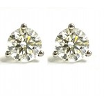 DIAMOND STUDS 14K WG w/1.08CT TOTAL G-H COLOR I1-CLARITY