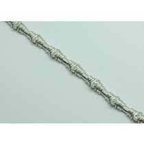 LADIES BRACELET 14K WHITE GOLD WITH 33-DIAMONDS AT 0.80CT